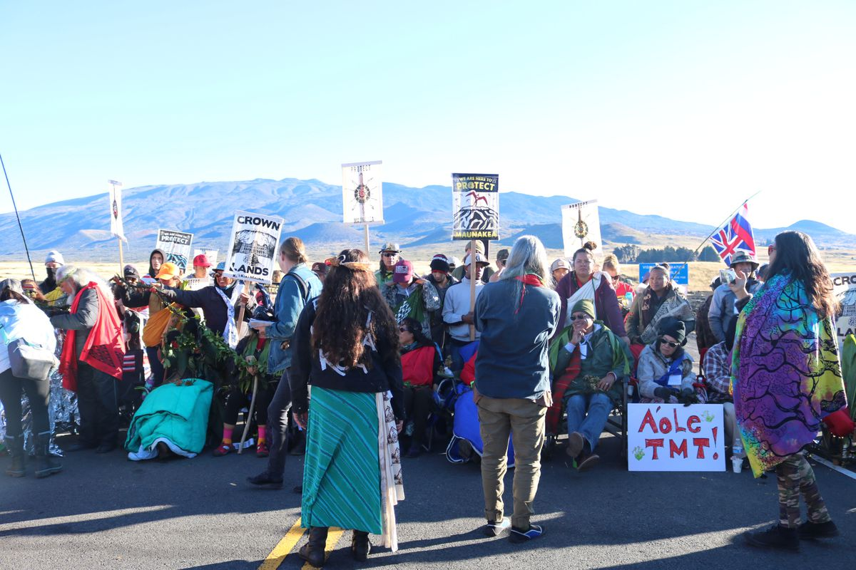 Native Hawaiian protectors at Maunakea.