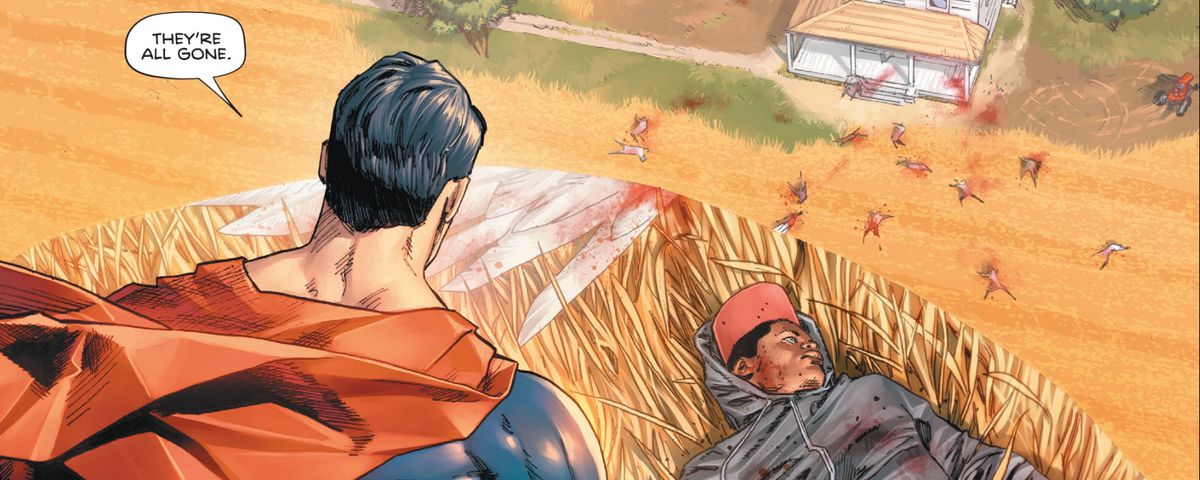 Superman and victims in Heroes in Crisis #1, DC Comics (2018).