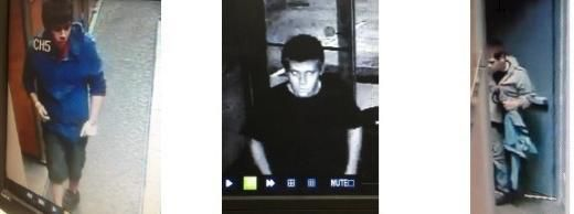 Surveillance photos of the suspects in the burglary of a Deerfield salon.   Northbrook police