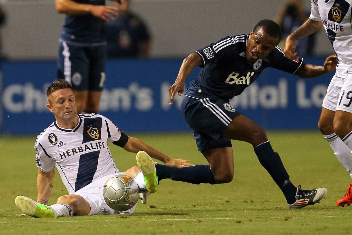 Rare photo: the Los Angeles Galaxy not getting a shot against the Whitecaps last week.