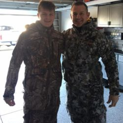 For Merril Hoge and his son, Beau, one of their favorite pastimes is going bow hunting.