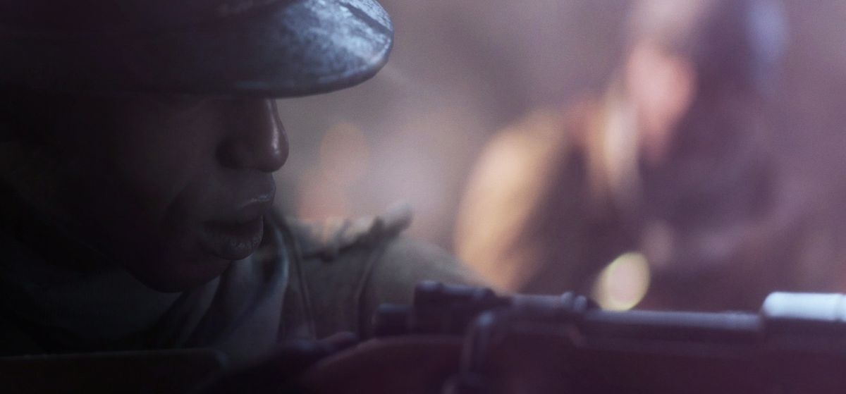 Battlefield 5 - African soldier aiming a rifle
