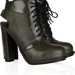 Dakota cut-out lace-up leather ankle boots, $262 (orig. $665)
