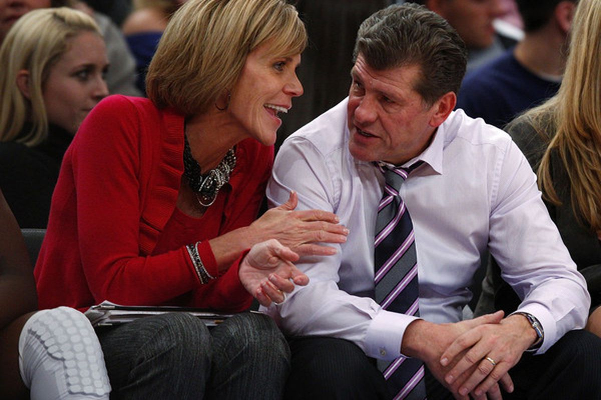 Does the Connecticut brain trust have the answers to UConn's biggest questions this season? (Photo by Jeff Zelevansky/Getty Images)