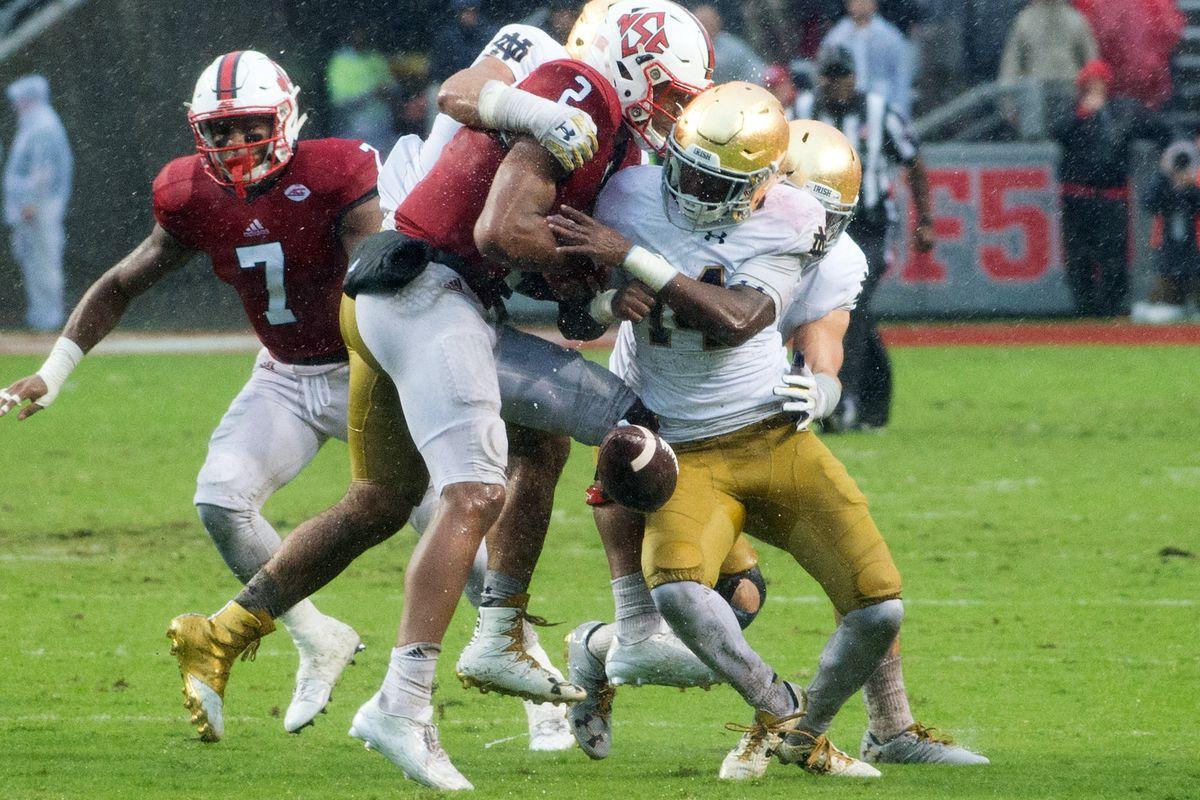 NCAA Football: Notre Dame at North Carolina State