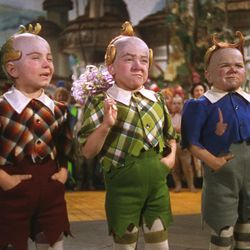 """The Lollipop Guild welcomes Dorothy to Munchkin Land in """"The Wizard of Oz."""""""