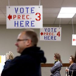 Voters line up at the polls to cast their ballots on Nov. 8, 2016, in Fenton, Mich. Fenton is about an hour away from Macomb County, which may have single-handedly swung Michigan to Donald Trump.