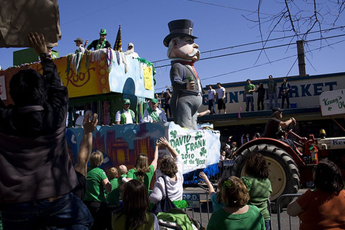 St Patrick's Day in New Orleans.