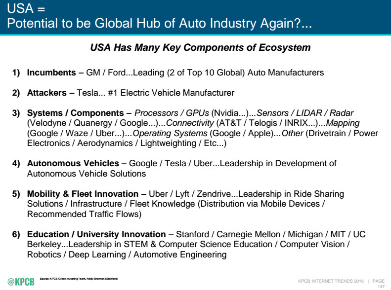 Mary Meeker: With self-driving cars, the second golden age