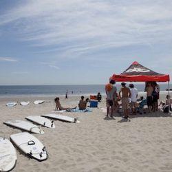 Nike tent on Rockaway beach