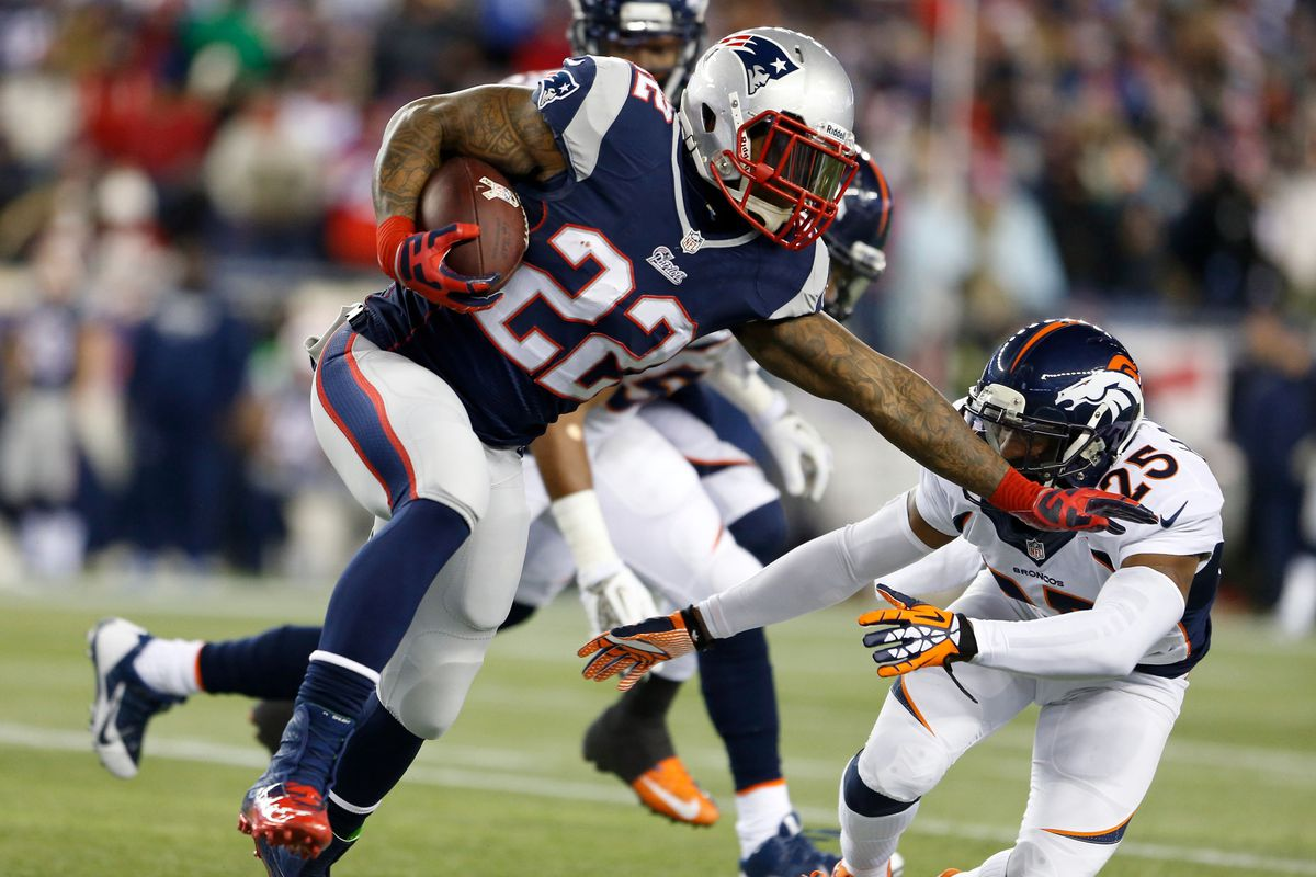 Evidence showing Stevan Ridley can, on occasion, hold on to the football while running.