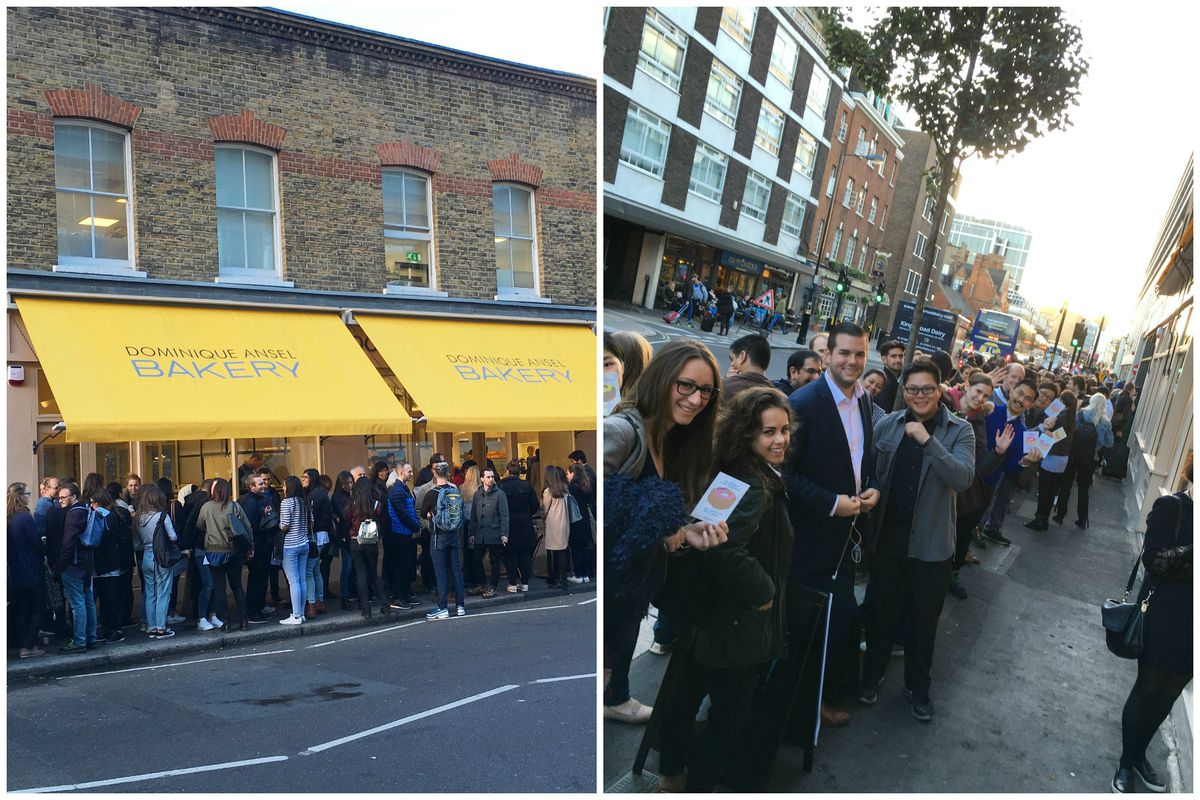 The line outside Dominique Ansel London