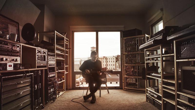 Musician RAC in his studio