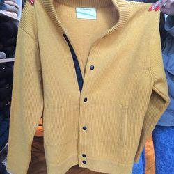 Sweater jacket, $200