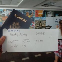 Sister Ashley Paget's handwritten boarding pass, a symbol of the chaos at the San Juan airport in Puerto Rico. She and 35 other women didn't know until the final minutes whether they would be permitted on the plane that had carried humanitarian workers to the island on Saturday, Sept. 23, 2017. Another 19 women from the Puerto Rico San Juan Mission didn't make it on the plane and remained on the island until Tuesday.