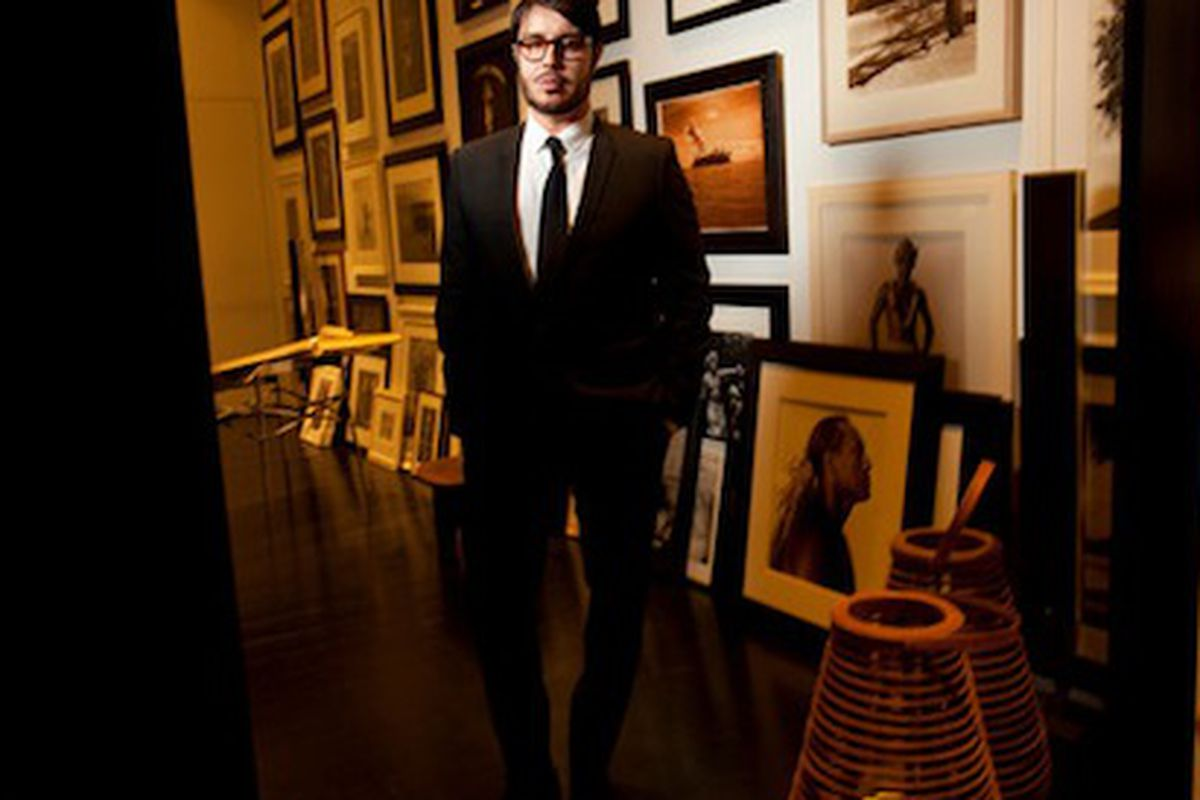 """For a guy who convinced all of us to buy a beauty product called """"Orgasm,"""" <strong>Francois Nars</strong> is fairly mild mannered. Image via <a href=""""http://www.nytimes.com/2011/02/10/fashion/10Skin.html?_r=1&amp;ref=fashion"""">NYT</a>."""