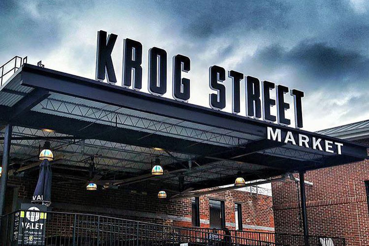 Exterior signage at Krog Street Market