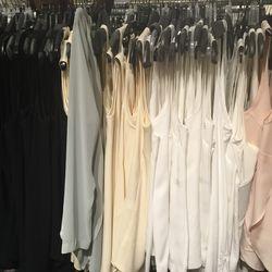 Sleeveless silk tops, $100