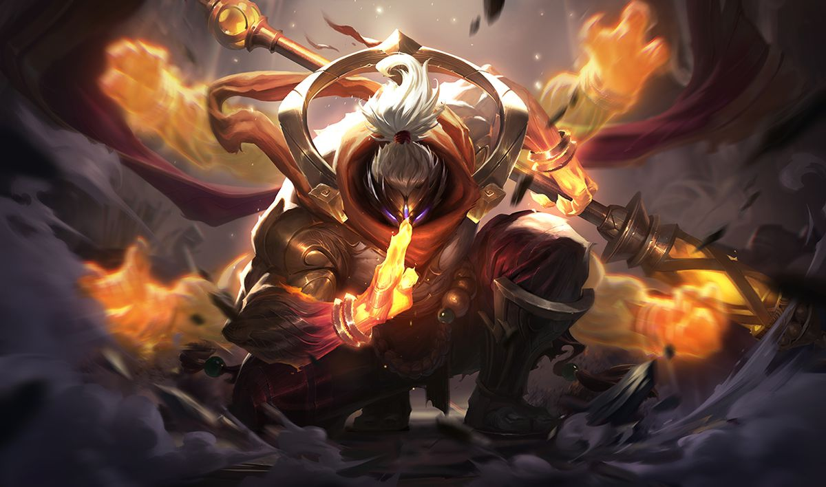 God Staff Jax gets ready to launch an attack
