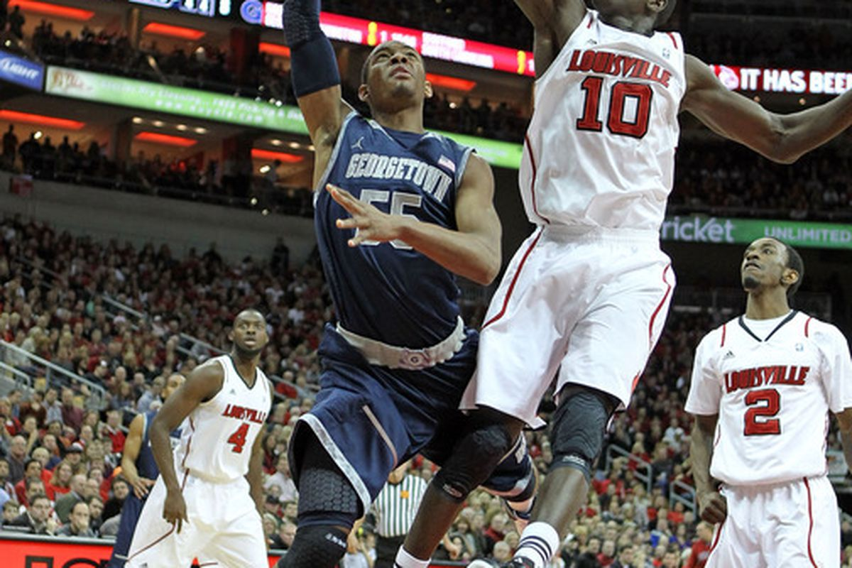 Gorgui Dieng knows how to play big and defend the basket. He'll be tough on St. John's tonight.