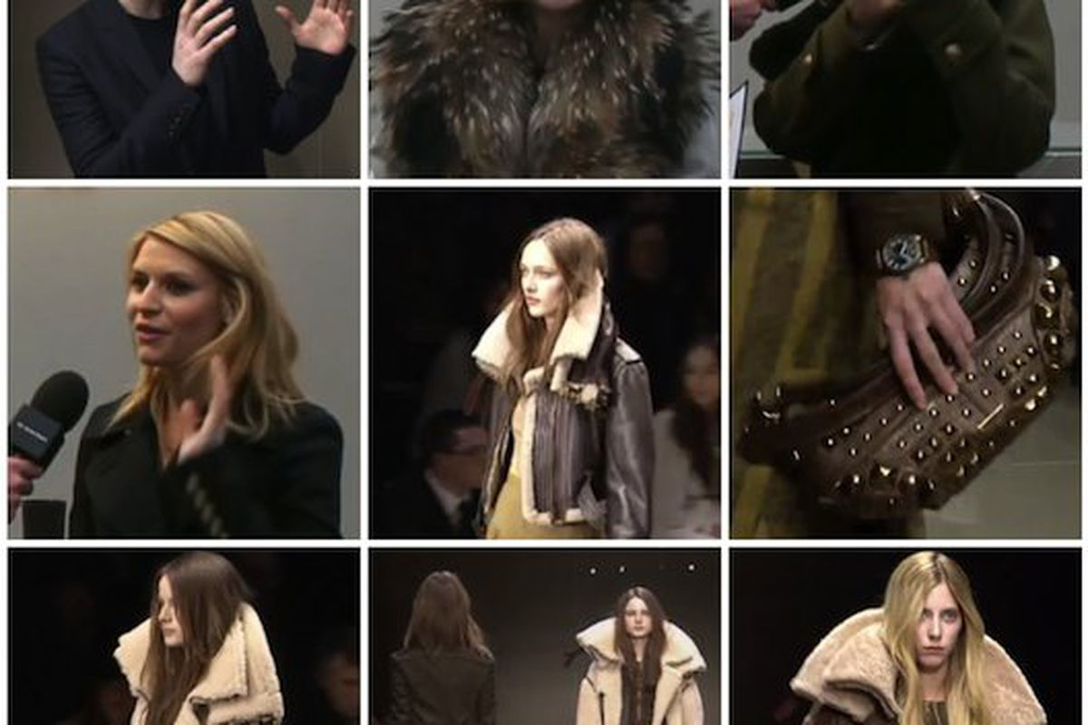 "Fashion meets the future: <b>Burberry Prorsum</b> <a href=""http://live.burberry.com"">livestream</a> screengrabs, feat. Christopher Bailey, Anna Wintour, Kate Hudson, and Claire Danes."