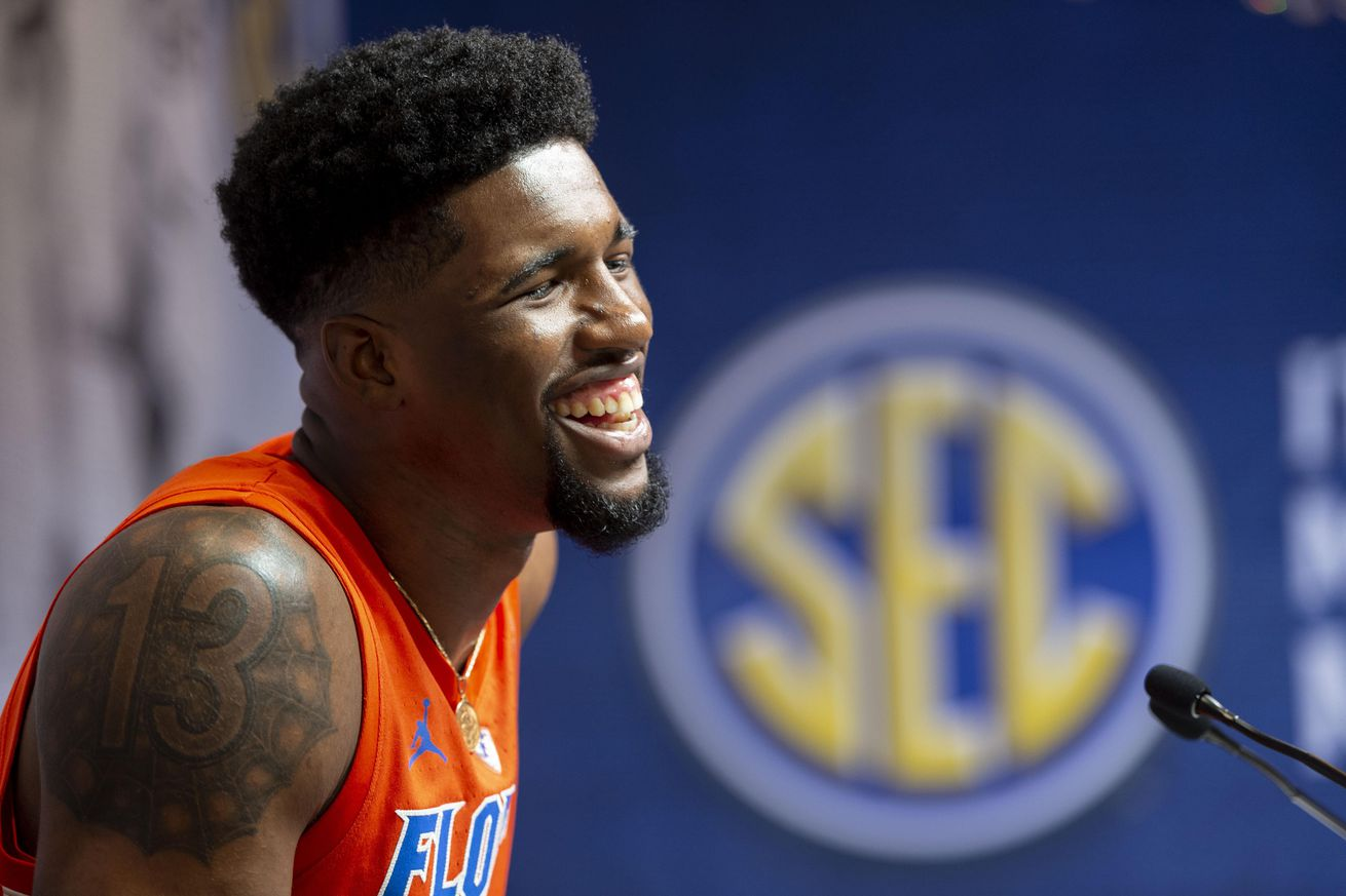 Yes, this is a picture of Kevarrius Hayes at SEC Media Days. No, I don't have any pictures from tonight.