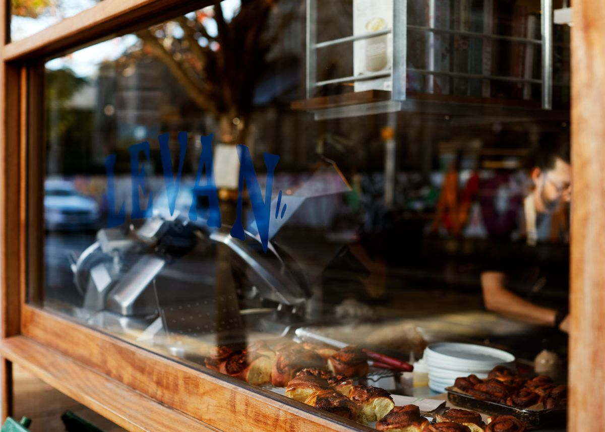 The window at Levan, Peckham's newest, coolest restaurant from the team behind Salon in Brixton