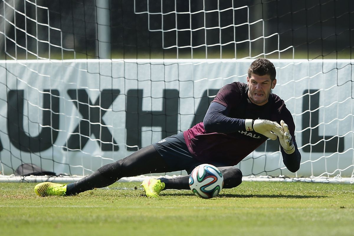 Forster in his World Cup training camp with England