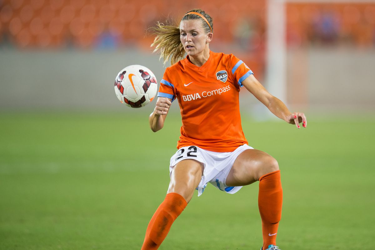 Houston Dash's Stephanie Ochs was one of the stand out players Wednesday night against the Seattle Reign FC.