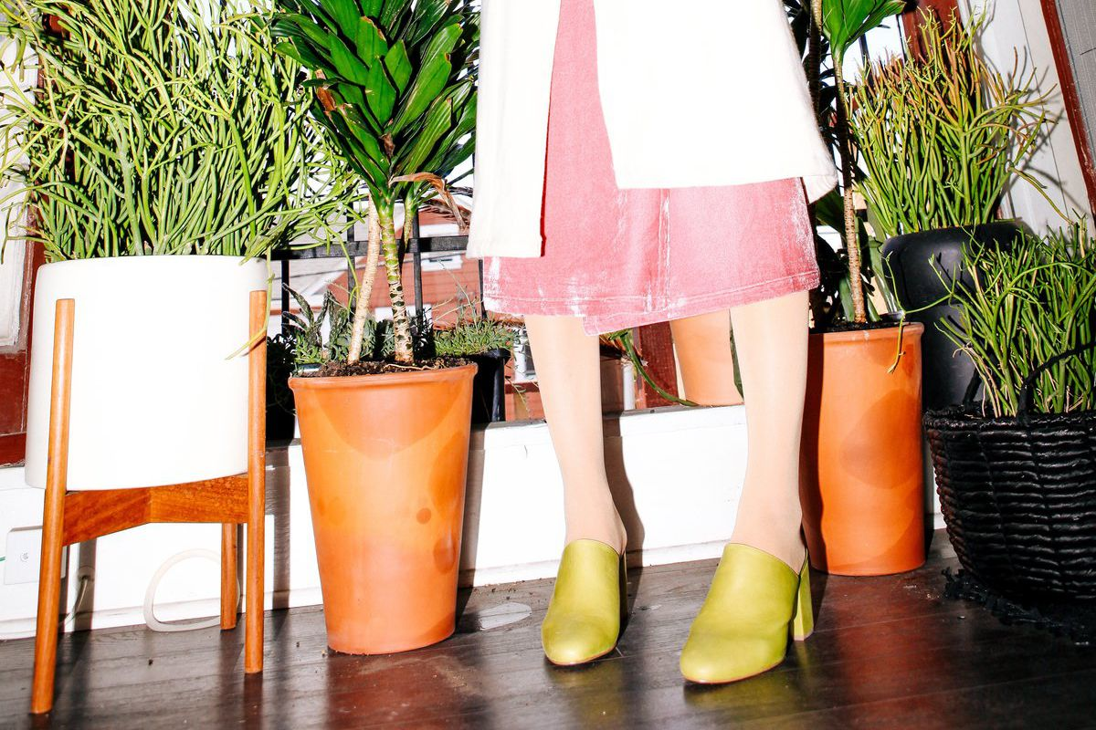 chartreuse mules
