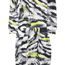 """Thakoon abstract-print draped silk <a href=""""http://www.theoutnet.com/product/100300"""" rel=""""nofollow"""">dress</a>. Original price $1,355; now $203.25."""