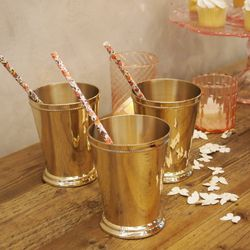 """Element 9: A Signature Cocktail. (<a href=""""http://www.bhldn.com/shop-decor-for-the-table-bar-accessories/derby-cup/productoptionids/2cfdddea-ce77-41fb-bdf9-1bdcb7ca63f8"""">Derby Cups</a>, $18/ea; <a href=""""http://www.bhldn.com/shop-decor-for-the-table-bar-ac"""