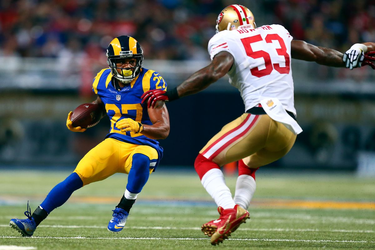 Former Los Angeles Rams RB Tre Mason Photo By Dilip Vishwanat Getty Images
