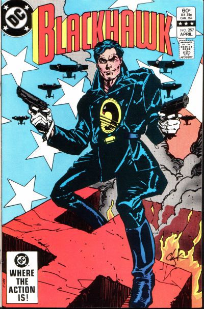 The cover of Blackhawk #257, DC Comics (early 1980s).