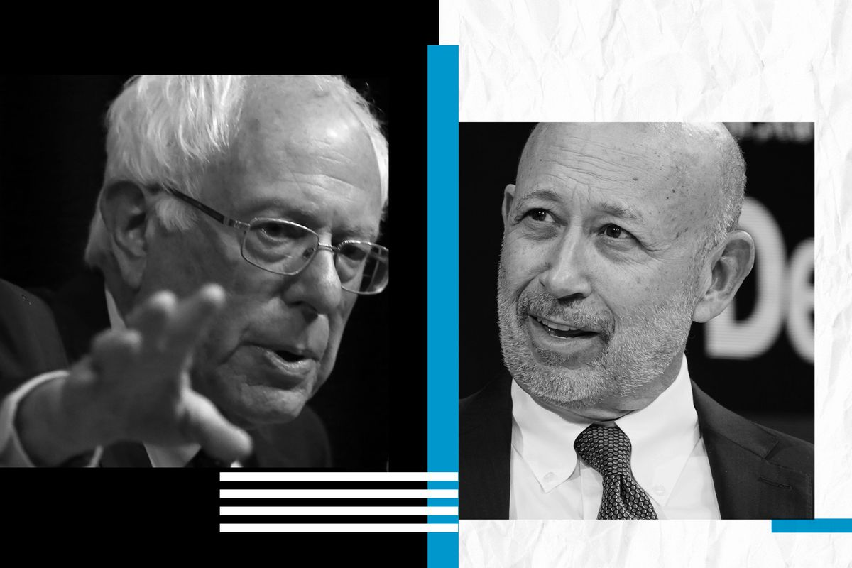 Bernie Sanders and Lloyd Blankfein