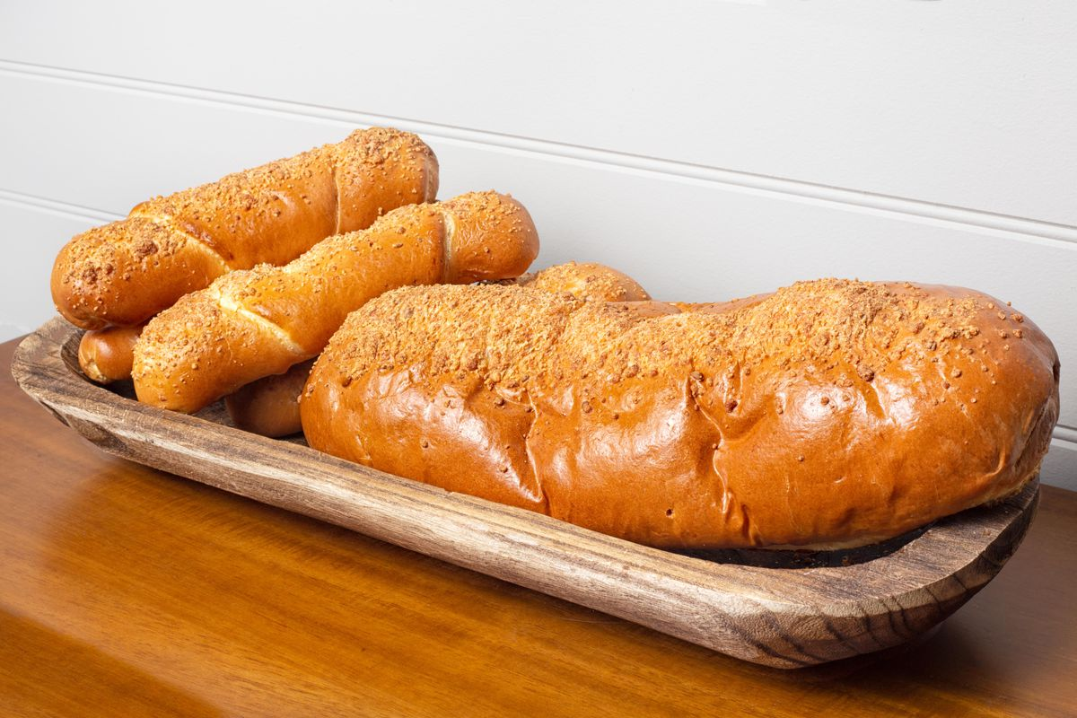 Pan con queso in individual and family sizes at Take It Easy