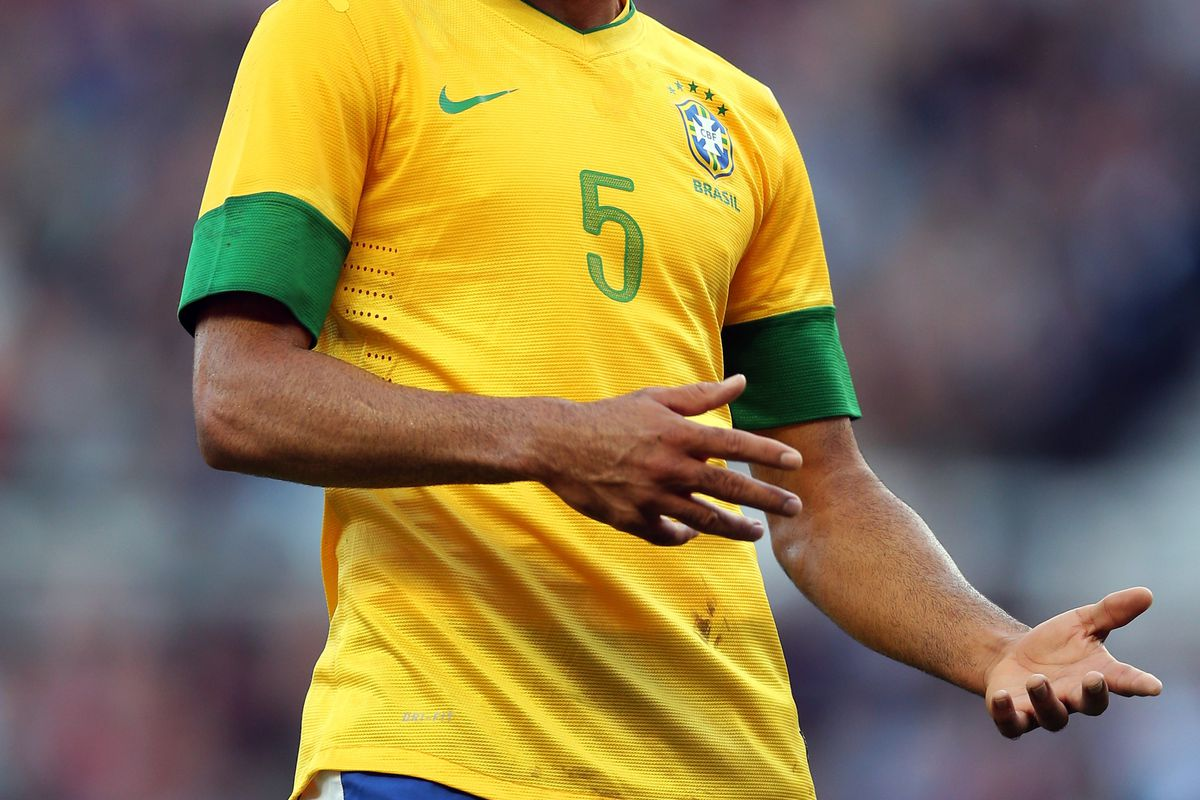MIDDLESBROUGH, ENGLAND - JULY 20:  Sandro of Brazil reacts during the international friendly match between Team GB and Brazil at Riverside Stadium on July 20, 2012 in Middlesbrough, England.  (Photo by Julian Finney/Getty Images)
