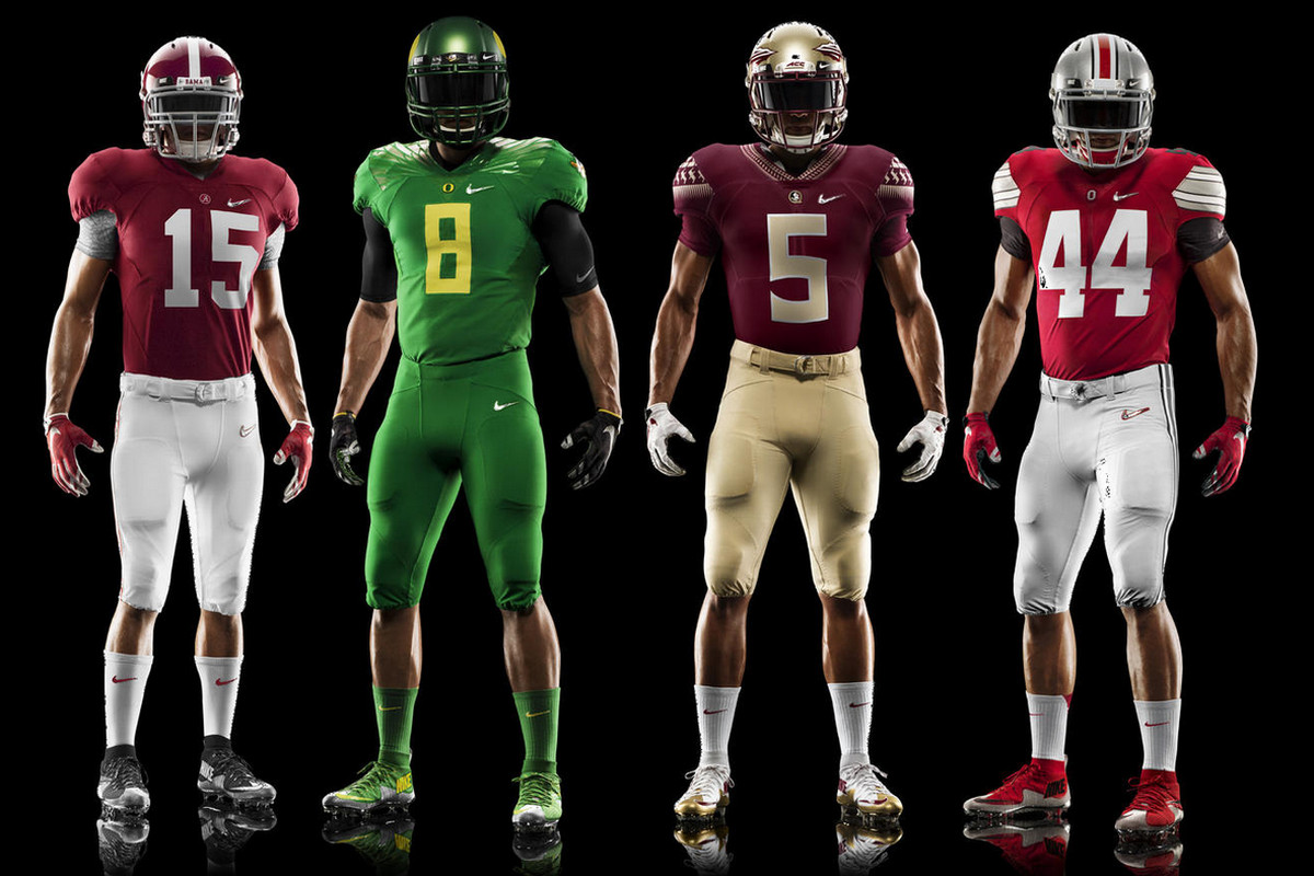Nike unveils tweaked uniforms for all 4 College Football Playoff teams c9c481506