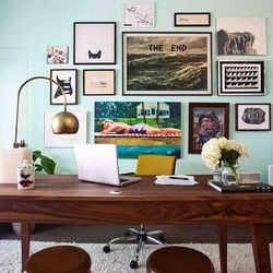The office space of author and screenwriter Kelly Oxford.