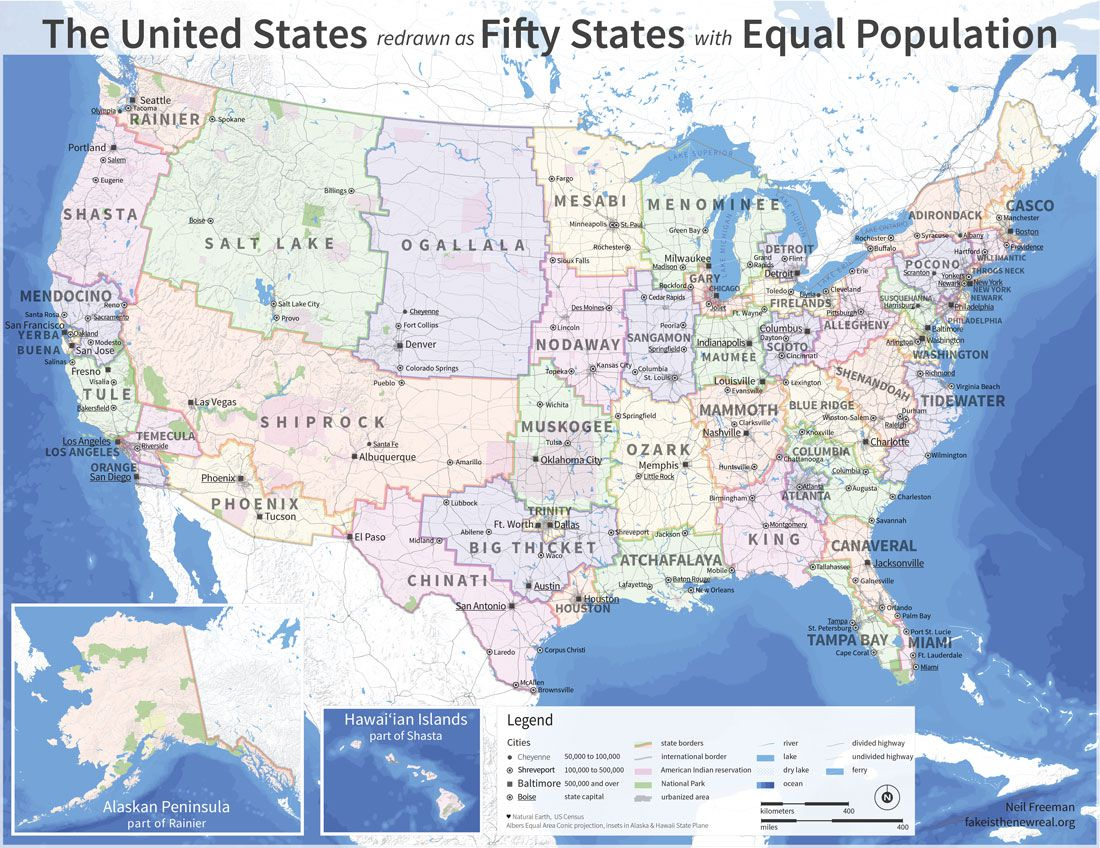 If the states were equal in population