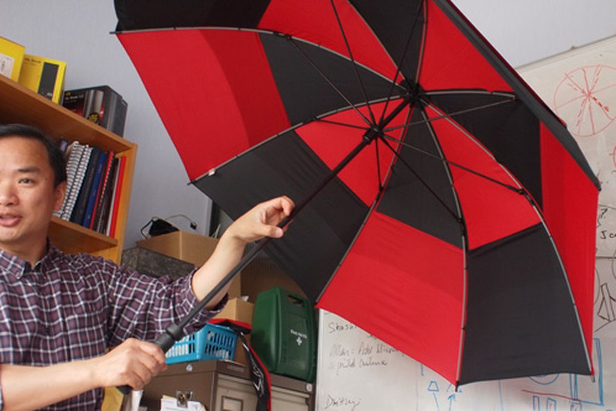 vodafone booster brolly stock image