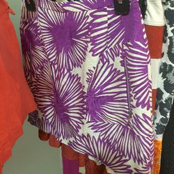 Magenta pocket mini skirt, $65 (was $198)