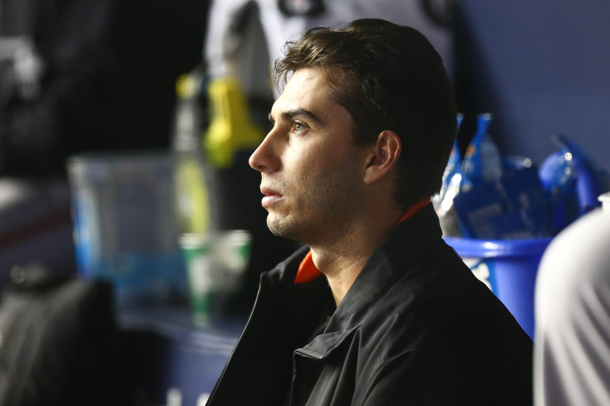 """The latest entry in the """"Miguel Gonzalez stares intently from the dugout"""" photo genre."""