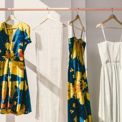 Naeem Khan Macaw short dress, Tetrahedrite Dress, Naeem Khan Macaw long gown, Lazulite Dress
