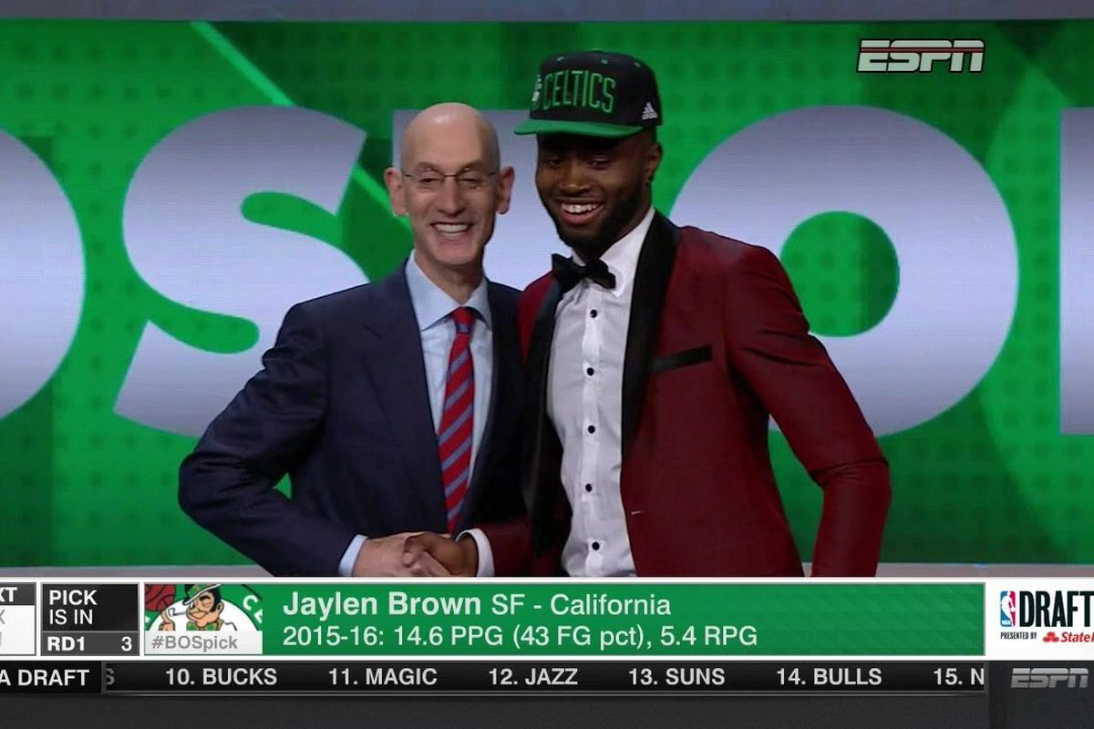 The Boston Celtics have selected California forward Jaylen Brown with the  third overall pick in the 2016 NBA Draft. They were rumored to be looking  to deal ...