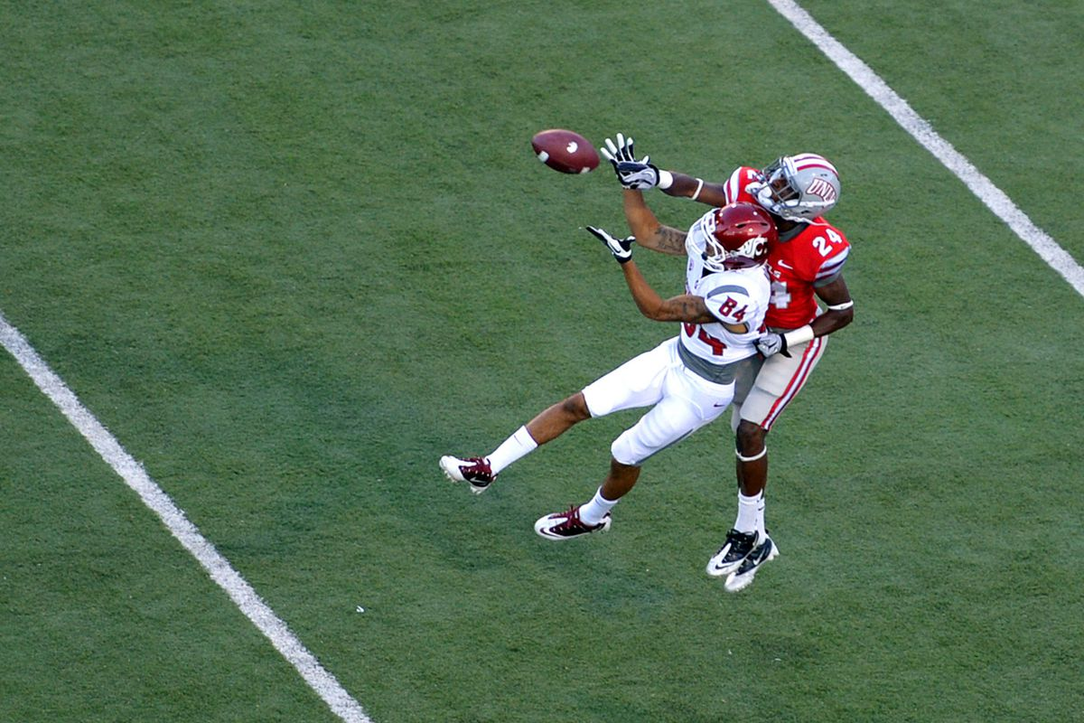 Gabe Marks caught this pass. In related news, Gabe Marks is pretty good.