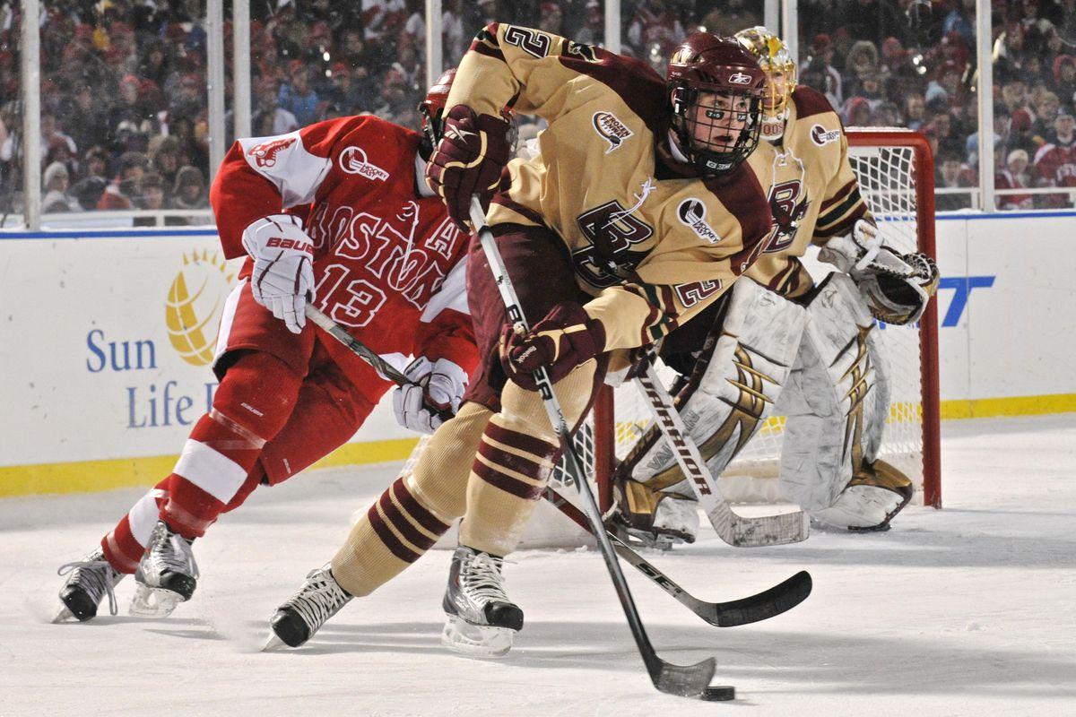 Hockey - NCAA - Sun Life Frozen Fenway - Boston University v Boston College