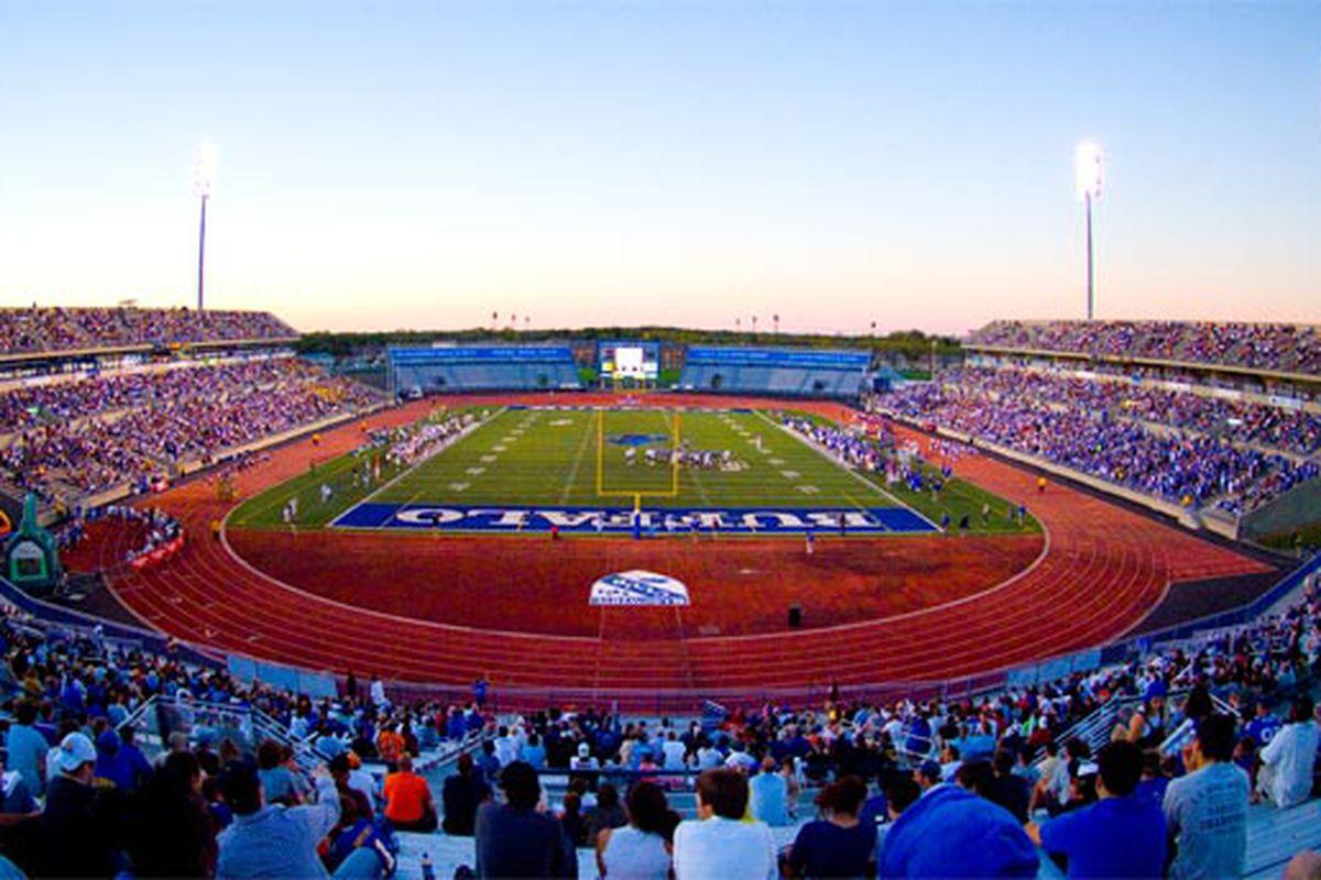 "Tonight at UB Stadium, there will be Blue. (Photo via <a href=""http://admissions.buffalo.edu/campus/athletics.php"" target=""new"">buffalo.edu</a>)"