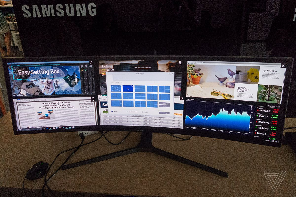 Samsung S 49 Inch Ultrawide Curved Display Is Basically