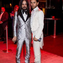 Alessandro Michele and Jared Leto, wearing Gucci.